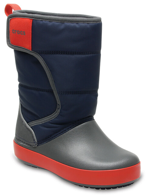 Crocs LodgePoint Snow Boot Kids Navy/Slate Grey